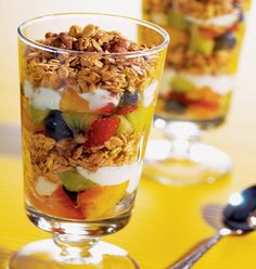 A Healthy Start: Nutty Breakfast Granola Parfait