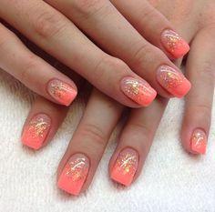Glitter Acrylic Nails | via tiffany power