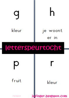 Juf Inger: Letterspeurtocht na kern 6