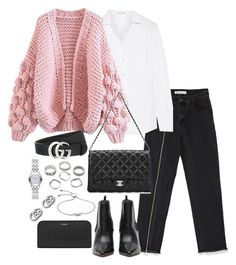 """Untitled #4631"" by theeuropeancloset on Polyvore featuring Yves Saint Laurent, Chanel, Gucci and Monica Vinader"