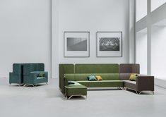 SoftBox seating range by Profim includes armchairs, sofas, acoustic sofas, benches and pouffes. Soft Flooring, Flooring Options, Sofa Design, Interior Design, Reception Furniture, Media Furniture, Reception Seating, Three Seater Sofa, Soft Seating