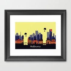 #lovely #melbourne #australia #vector #art #illustration #landmark #landscape #skyscrapers