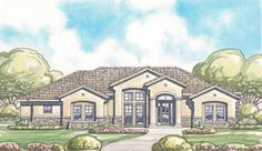 Eplans Mediterranean House Plan - Abundant French Doors - 3052 Square Feet and 4 Bedrooms(s) from Eplans - House Plan Code HWEPL10967