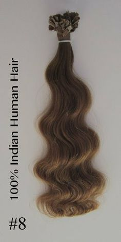 "25 Strands Remy Hair Extensions 20"" 0.8gr Per Strand Flat Keratin Color #8(light Chestnut) by Jenara Hair Extensions. $33.00. Hair Type; Remy Human Hair. Color #8 (light Chestnut). Glue tip, hard Italian Keratin. Hair can be reused. Lasts up to 6 months.. Quantity 25 strend. Texture & Length: Wavy 20"" 0.8gr per strand. Flat Italian Keratin Pre Tipped Remy Indian Hair Extensions Easy to maintain, natural and undetectable. Specifications: 25 Strands Per Bundle 20"" long..."