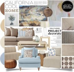 """Project Decorate: California Cool With Flourish Design and Style"" by designsbytraci on Polyvore"