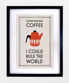 Mid Century Retro Coffee Print £10.00