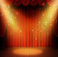 Red Photography Backdrops Dreamy Stage Backgrounds Studio Props 5x7FT  Vinyl