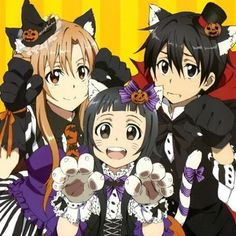 Asuna, Yui & Kazuto (Halloween) - By Sword Art Online Kirito and Asuna ღ