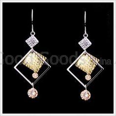 Zircon Earring Hook Marcasite Style For Clubwear