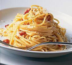 Recette de Spaghetti à la Carbonara - Recettes de cuisine faciles et simples   Recettee