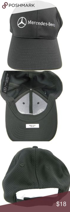 f3457d3d MERCEDES BENZ Collection Gray Strap One size Cap MERCEDES BENZ Collection  Gray and White Waffle Pattern