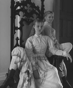 """thefilmstage: """"Elle Fanning and Kirsten Dunst on the set of Sofia Coppola's The Beguiled. """""""
