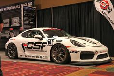 Doesn't this look like more fun than a barrel of monkeys? Isringhausen's latest Porsche Cayman GT4 racecar is not a factory Clubsport, but rather a fresh build by Bilt Racing Service that started as a new GT4 straight off the showroom floor. Built to compete in PCA, SCCA, and NASA club racing, it features 18x9/18x10.5 Forgeline one piece forged monoblock GS1R wheels finished in Satin Gunmetal! See more at: http://www.forgeline.com/customer_gallery_view.php?cvk=1831 #Porsche #Cayman #GT4