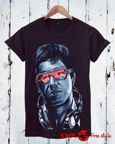 Tony Montana T-shirt / Montana Tee / Cocaine Tshirt by KMKDIGITAL Montana, Slim, Trending Outfits, Celebrities, Tees, Mens Tops, T Shirt, Fashion, Supreme T Shirt