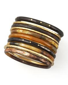 perfect fall tone in these bangles