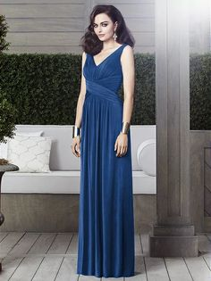 Dessy Collection 2913 Estate Blue size 12