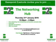 Basepoint Business Hub – Come and hear Private Detectives Answers Investigation talk at the Basepoint Eastcote Business Hub on 21st January – free networking, free lunch, free prize draw! http://www.answers.uk.com/newsfull/basepointeastcote160121.htm T: 020 7158 0332 http://www.answers.uk.com