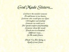 Funny Sister Poems | Best+sisters+poems