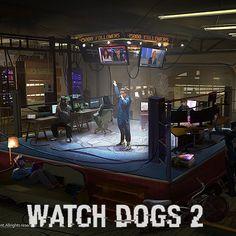 WATCH DOGS 2 - Oakland Hackerspace, Nacho Yagüe on ArtStation at https://www.artstation.com/artwork/43332