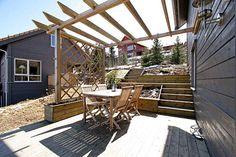 Overbygg terrassen Pergola, Patio, Outdoor Decor, Home Decor, Porches, Homemade Home Decor, Yard, Outdoor Pergola, Porch