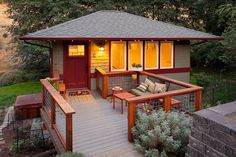 Simple But Strong Architectural Lines and Bold Tones  |  TIMBER TRAILS:  Enabling cabin, cottage, and tiny house builders with resources for fast, efficient, and affordable housing alternatives.  Live Large -- Go Tiny!  > >  TimberTrails.TV