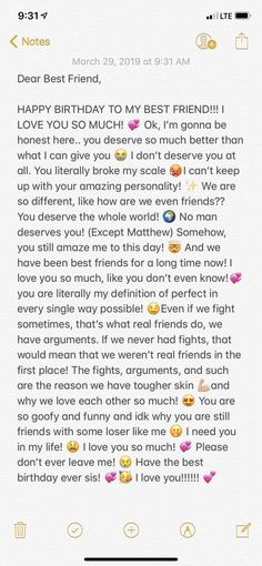 Best Friend Texts, Happy Birthday Best Friend Quotes, Message For Best Friend, Birthday Wishes For Boyfriend, Sister Birthday Quotes, Birthday Wishes Funny, Best Friend Birthday Message, Dear Friend, Best Friend Messages