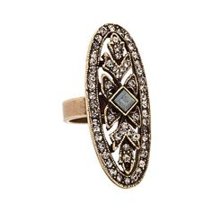 Ceek Oval Art Deco Ring ($50) ❤ liked on Polyvore featuring jewelry, rings, accessories, art deco, clear jewelry, deco ring, oval stone ring, art deco inspired jewelry et art deco ring