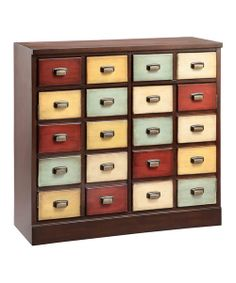 Just like library card catalogs, this chest features tons of color and antique accents. With lots of little drawers and a durable wood construction, it'll provide long-lasting storage for special essentials.