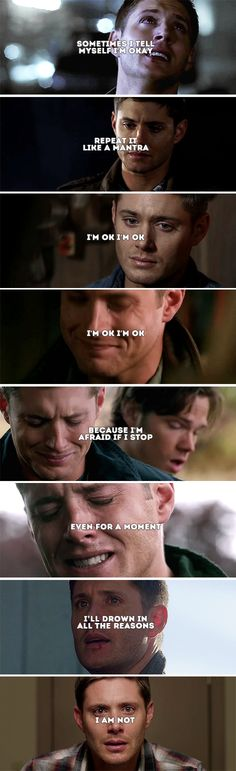 you are tired, my love, of saving the whole world and forgetting to save yourself. #spn