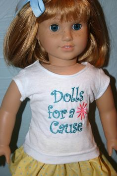 Dolls for a Cause tshirt. Free gift with $40 donation toward a doll. http://www.gofundme.com/40i29g
