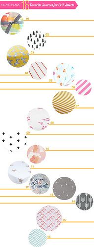 A-Lovely-Lark-16-Favorite-Sources-for-Crib-Sheets by A Lovely Lark, via Flickr