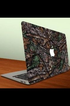 Macbook Air or Macbook Pro Vinyl, Removable Skin - Hunting Camo