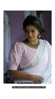 Blouse Back Neck Designs, Sari Blouse Designs, Fancy Blouse Designs, Sleeves Designs For Dresses, Stylish Blouse Design, Crochet Blouse, Blouse Desings, Siri, Boat Neck