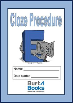 Cloze procedure is a way to judge whether your child understand what they are reading.