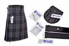 Men Scottish 6 Piece Casual Kilt Outfit with Sporran, Dress Gordon Tartan Kilt Scottish Clothing, Scottish Kilts, Scottish Clans, Scottish Thistle, Pride Of Scotland Tartan, Douglas Tartan, Wallace Tartan, Macdonald Tartan, Kilts For Sale