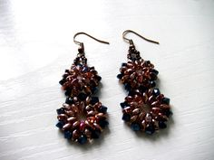Beading DIY - Earrings using Superduo Beads