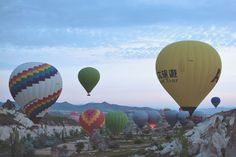 Gently floating above the fairy land of Cappadocia Fairy Land, Hot Air Balloon, Adventure Travel, Storytelling, Balloons, Turkey, Magazine, Globes, Turkey Country
