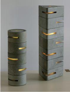 """Brett Piper """"Concrete Lamps"""""""