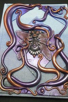 Polymer Clay OOAK Copper Amethyst Nymph Goddess by WyndsongDesigns