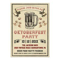 Oktoberfest Vintage Party Invitation at InvitationsByU.com