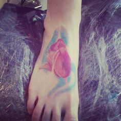 Tulip color tattoo