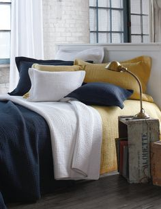 Fall in love with bedding at armchairmuse.com! Throws, shams, duvets, quilts, blankets Quilt Bedding, Duvet, Comforters, Throw Pillows, Quilts, Collection, Furniture, Blankets, Home Decor