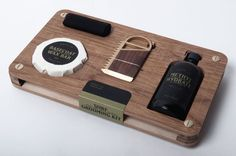 Designed by Studio Point and manufactured by Make Co., a multidisciplinary design studio based in Montreal, Canada, the Surfboard Grooming Kit is packed in a beautiful wooden carrying case. It is a limited edition of 25