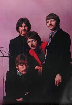 George Harrison, Richard Starkey, Paul McCartney, and John Lennon (Photo by Henry Grossman)