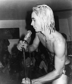 Iggy Pop in 1973 on stage at the legendary New York club, Max's Kansas City, Photo by Anton Peric #iggypop