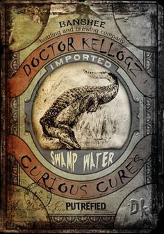 Doctor Kelloggz: Swam water potion label