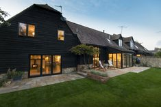 The stunning barn conversion in Buckinghamshire showed what a difference bifolding doors can make.