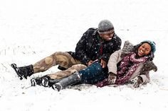 On Friday afternoon, the Maryland couple and their photographer, Dotun Ayodeji, headed out into the first flakes of the 2016 blizzard to capture the couple's dream engagement photos.
