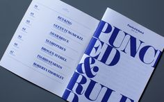 Punched & Ruled by Brogen Averill, via Behance