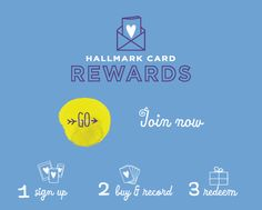 For every 5 Hallmark cards purchased you receive one reward. Rewards include gift cards, discounts, dollars off, and more from several different reward partners. See more here...   The Happy Housewife